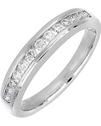 Bony Levy - 18k White Gold Channel Set Diamond Band Ring - 0.27 Ctw - Lyst