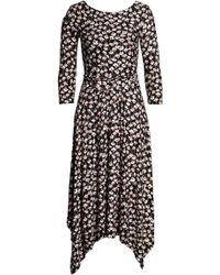 Boden Maisie Matte Jersey Midi Dress (regular & Petite) - Black