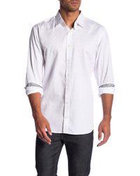 Bugatchi - Tonal Checked Slim Fit Shirt (big & Tall) - Lyst