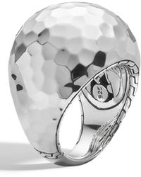 John Hardy Palu Hammered Dome Ring - Size 7 - Metallic