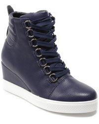 Catherine Malandrino Lorna Wedge Sneaker - Blue