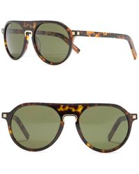 Ermenegildo Zegna 55mm Round Aviator Sunglasses - Green