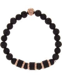 Steve Madden - Lava Stone Stretch Bracelet - Lyst