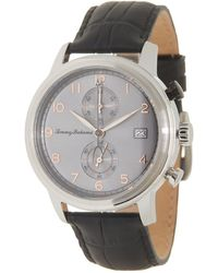 Tommy Bahama Men's Riviera Chronograph Croc Embossed Leather Strap Watch - Metallic