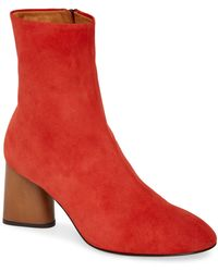 Rag & Bone Fei Suede Block-heel Booties - Red