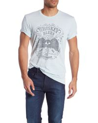Lucky Brand Whiskey Blues Graphic Burnout Tee