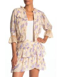 Love Sam La Villette Floral Crop Jacket - Multicolour