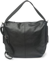 Luisa Vannini Pebbled Leather Structured Top Handle Bag In Nero At Nordstrom Rack - Black