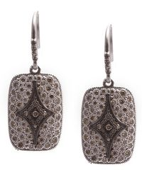 Armenta - New World Blackened Sterling Silver Pave Diamond Drop Earrings - 1.21 Ctw - Lyst