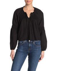 Cotton On Breanne Blouson Long Sleeve Top - Black