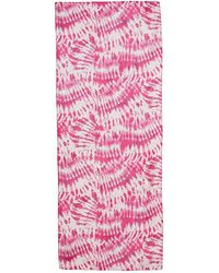 Calvin Klein Tie Dye Chiffon Scarf In Flamingo At Nordstrom Rack - Pink