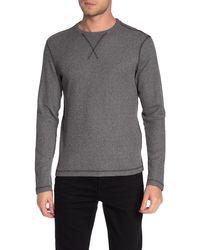 Vintage 1946 Drop Needle Crew Neck Knit Sweater - Black