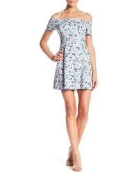 Lush - Floral Printed Off-the Shoulder Dress - Lyst