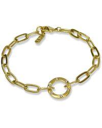 Liza Schwartz Amour 18k Gold Plated Sterling Silver Chain Bracelet - Metallic