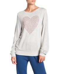 Wildfox Bbj Glitz Heart Sweatshirt - Multicolour