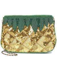 G-Lish Pineapple Sequin Clutch - Multicolor