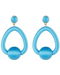 BaubleBar - Mariela Woven Hoop Drop Earrings - Lyst