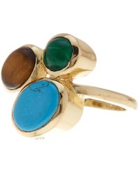 Cole Haan - Bezel Set Stone Cluster Ring - Size 7 - Lyst