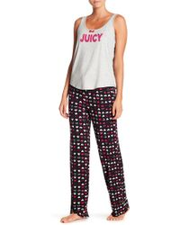 Juicy Couture - Two-piece Printed Pajama Set - Lyst