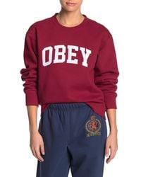 Obey Institution Crew Neck Pullover - Red