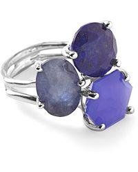 Ippolita - Rock Candy Sterling Silver Prong Set 3-stone Cluster Ring - Size 7 - Lyst