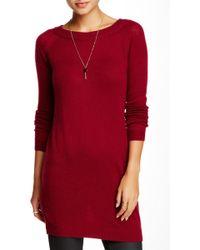 Portolano - Boatneck Cashmere Sweater Dress - Lyst