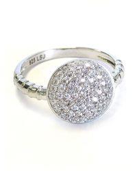 Liza Schwartz Sterling Silver Pave Circle Ring - Metallic
