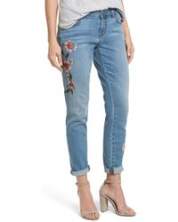 Caslon - Caslon Embroidered Skinny Jeans - Lyst