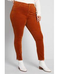 ModCloth Teaching Ease Skinny Corduroy Pants - Red