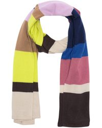 Theory Cashmere Striped Blanket Scarf - Multicolor