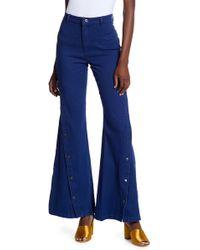 Jealous Tomato Bell Bottom Jeans - Blue