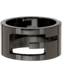 Gucci - Sterling Silver Branded Wide Band - Size 6.5 - Lyst