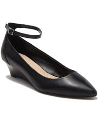 Nine West - Eans Worth Leather Wedge Pump - Lyst