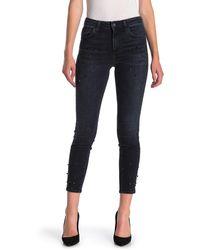 Mavi Tess Beaded Super Skinny Ankle Jeans (ink Pearl) - Black