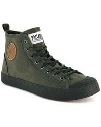 Palladium Pallaphoenix Mid Canvas Sneaker - Green