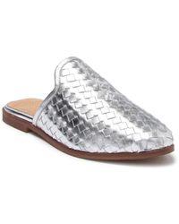 Seychelles Knickknack Woven Loafer Mule - Metallic