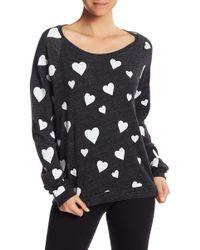 Alternative Apparel - Heart Print Fleece Pullover - Lyst