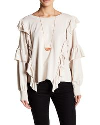 On The Road - Anica Ruffle Sweater - Lyst
