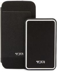 Tumi - Leather Galaxy S6 Folio & Portable Power Bank Gift Set - 4000 Mah - Lyst