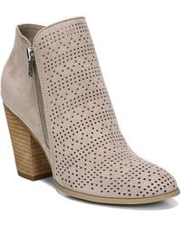 6280c6e7783 Lyst - Carlos By Carlos Santana Billey Perforated Ankle Bootie in Black