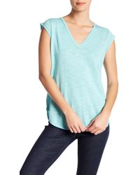 360cashmere - Barb Cap Sleeve Tee - Lyst