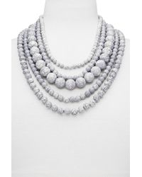 BaubleBar - Globe Multistrand Beaded Necklace - Lyst