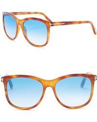 bcbe27eb79ab Nordstrom Rack · Tom Ford - Fiona 56mm Square Sunglasses - Lyst