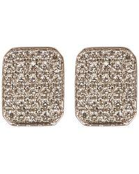 Bony Levy - 18k White Gold Pave Diamond Rectangle Stud Earrings - 0.16 Ctw - Lyst