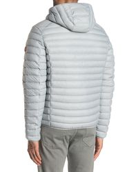 Save The Duck Water-repellent Packable Hooded Quilted Puffer Jacket - Gray
