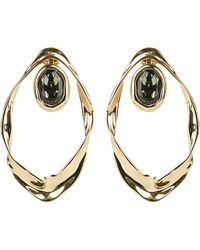 Alexis Bittar Crumpled Orbit Earrings - Metallic