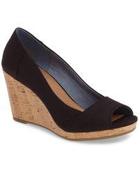 TOMS Stella Wedge Sandal - Black
