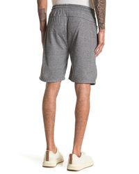 The Narrows Solid Heat Seal Zip Pocket Fleece Shorts - Gray