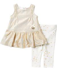 Juicy Couture Metallic Tunic & Leggings Set (baby Girls 12-24m)