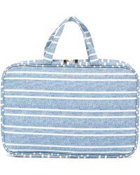 Kestrel Striped Weekend Organizer Bag - Blue/white